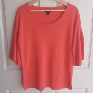 J Crew Coral Dramatic Sleeve Sweater Size Small